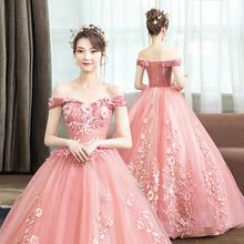 新式走sc礼服主持的xw考独唱蓬蓬裙长式学生演出服女