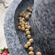 石磨老sc盘米粉加工jm型 家用(小)型磨豆浆创意农村老物件组新潮