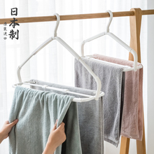 日本进sc家用可伸缩kf衣架浴巾防风挂衣架晒床单衣服撑子裤架