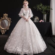 轻主婚sc礼服202x7新娘结婚梦幻森系显瘦简约冬季仙女