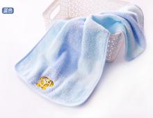 金号纯sc宝宝毛巾4x7厚洗脸面巾 可爱卡通柔软吸水(小)童巾