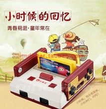 (小)霸王sc99电视电xg机FC插卡带手柄8位任天堂家用宝宝玩学习具