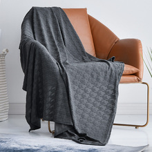 夏天提sd毯子(小)被子ou空调午睡夏季薄式沙发毛巾(小)毯子