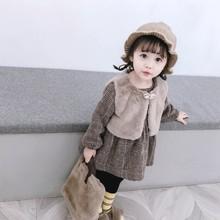 0婴儿se装1岁女宝ur背带裙套装2女童春冬装3两件套4吊带裙5