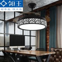 领王 se扇灯客厅餐un家用简约现代带LED的风扇吊灯