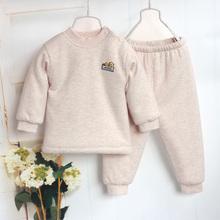 婴儿棉衣套装加厚纯se6秋冬装0un岁男女宝宝棉袄棉裤冬装打底衣