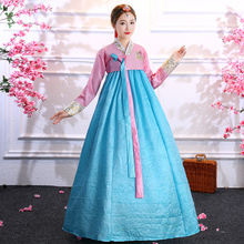 韩服女se朝鲜演出服da表演舞蹈服民族风礼服宫廷套装
