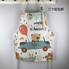 可定制se标环保加厚ai布围裙卡通大的宝宝厨房家务绘画