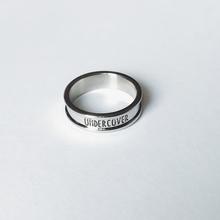 UCCseVER 1in日潮原宿风光面银色简约字母食指环男女戒指饰品