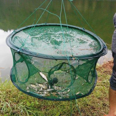 超大捕se笼渔网鱼网en鱼网自动折叠方形抓鱼工具扑抓捕鱼神器