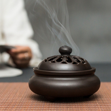 【天天se价】大号陶ie香薰炉卧室盘香熏檀香插