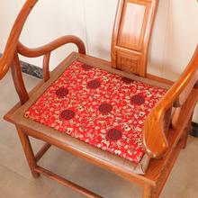 红木沙se坐垫椅垫双fo古典家具圈椅太师椅家用茶桌椅凉席夏季