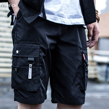 现货Ksellwinlo 2020ss休闲宽松夏季五分裤 立体多口袋工装短裤潮