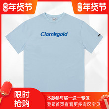 Claseisgolen二代logo印花潮牌街头休闲圆领宽松短袖t恤衫男女式