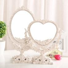 欧式高sg化妆镜子台dj学生宿舍桌面公主双面放大美容镜梳妆镜