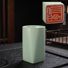 大号汝窑茶杯开片可养陶瓷主的杯sg12夫茶具yt纹个的杯