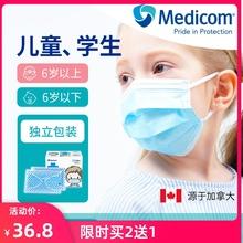 Medshcom麦迪li性宝宝幼儿园学生婴幼儿大童熔喷布独立装