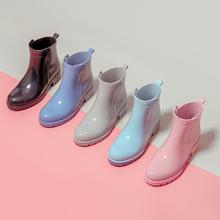 雨鞋女sh防滑马丁雨ng筒时尚式外穿夏日式胶鞋套鞋低帮防水鞋