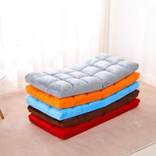 懒的沙sh榻榻米可折rp单的靠背垫子地板日式阳台飘窗床上坐椅