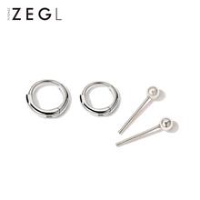 925银(小)耳圈耳钉女999纯银耳环sh14021an觉不用摘的耳饰耳扣