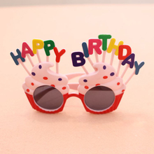 生日搞sh眼镜 宝宝he乐派对搞怪拍照道具装饰蛋糕造型包邮