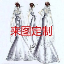 来图图sh礼服厂家承ng婚纱礼服定制2019新式