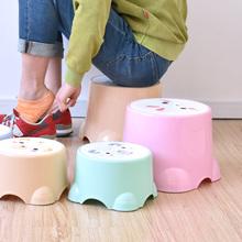 3个包sh塑料(小)凳子oh童(小)板凳洗澡宝宝圆凳脚北欧矮防滑加厚