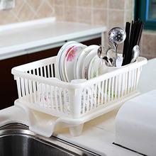 日本进sh放碗碟架水ni沥水架晾碗架带盖厨房收纳架盘子置物架