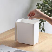 桌面垃sh桶带盖家用ra公室卧室迷你卫生间垃圾筒(小)纸篓收纳桶