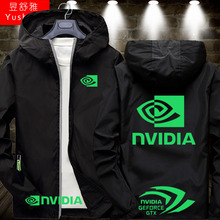 nvidia周边sh5戏显卡开ra女连帽夹克上衣服可定制比赛服薄式