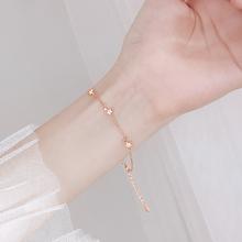星星手shins(小)众nd纯银学生手链女韩款简约个性手饰