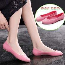夏季雨sh女时尚式塑nd果冻单鞋春秋低帮套脚水鞋防滑短筒雨靴