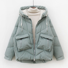 羽绒棉服女2020冬季新款韩款宽松加sh15面包服nd袄短款外套