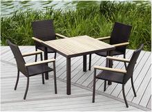 藤编餐sh椅五件套户ai别墅桌椅庭院室内外椅酒店桌椅组合