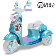 宝宝电sh摩托车宝宝dz坐骑男女宝充电玩具车2-6岁电瓶三轮车