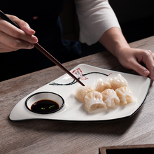 创意中sh陶瓷盘子私dz餐具酒店餐厅菜盘汤盘(小)食饺子个性摆盘