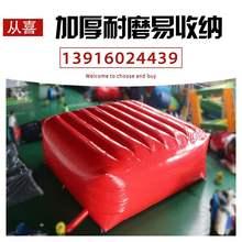 工地安sh防护充气防pp安全跳楼垫高空消防救生救援逃生气垫。