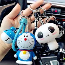韩国卡sh简约可爱公pe扣女创意汽车情侣钥匙链圈包包挂件礼品