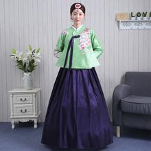 201sh年新式女韩pe族民族服装韩国传统韩服迎宾服高档