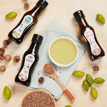 星圃宝sh辅食油组合al亚麻籽油婴儿食用(小)瓶家用榄橄油