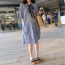 [shuaicao]孕妇夏装连衣裙宽松衬衫裙