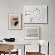 MEIshSN北欧风in装饰画现代简约床头挂画客厅网红ins组合壁画