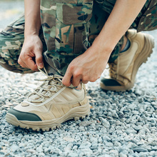 军武次sh面户外战术ww沙漠靴作训鞋防穿刺超轻透气减震军靴
