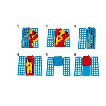 叠快速si衫折宝宝衣me纳板衣服式懒的衣服衣折叠神器叠折叠器