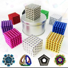 外贸爆si216颗(小)lam混色磁力棒磁力球创意组合减压(小)玩具