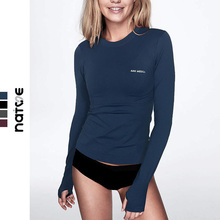 健身tsi女速干健身en伽速干上衣女运动上衣速干健身长袖T恤