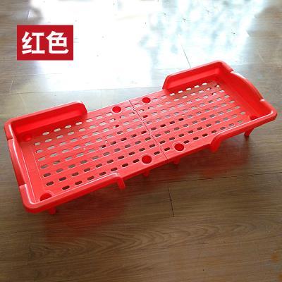 专用幼si园床婴儿午en童午休床拼接婴儿床折叠(小)床塑料单的床