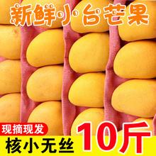 新鲜海si(小)台农芒1os箱 热带水果当季树上熟(小)核台芒甜