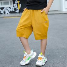 胖男童si裤五分裤2os新式夏季薄式棉麻宽松中大宝宝装灯笼裤子潮
