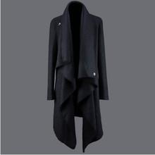 秋冬季si型师保暖风os呢子外套男韩款修身不规则个性毛呢大衣